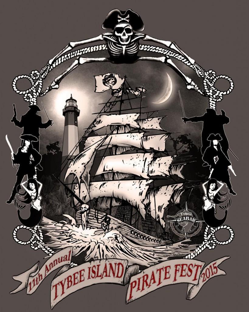2015 tybee pirate fest tshirt